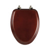 Mayfair Natural Reflections Cherry Wood Elongated Toilet Seat