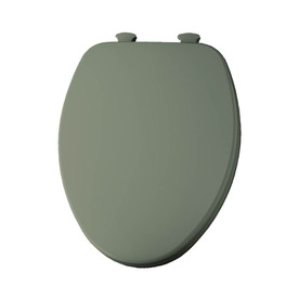 Shop Church Lift Off Bayberry Green Wood Elongated Toilet