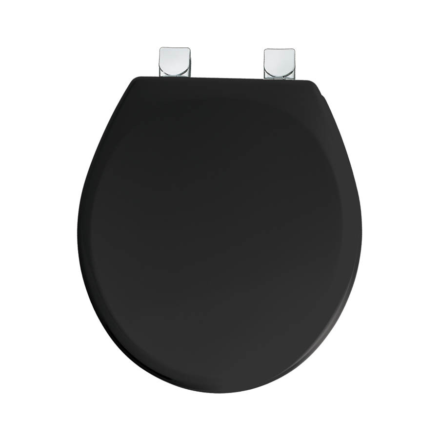 shop mayfair black wood round toilet seat at. Black Bedroom Furniture Sets. Home Design Ideas