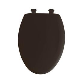 Bemis Lift Off American Brown Plastic Elongated Slow Close Toilet Seat