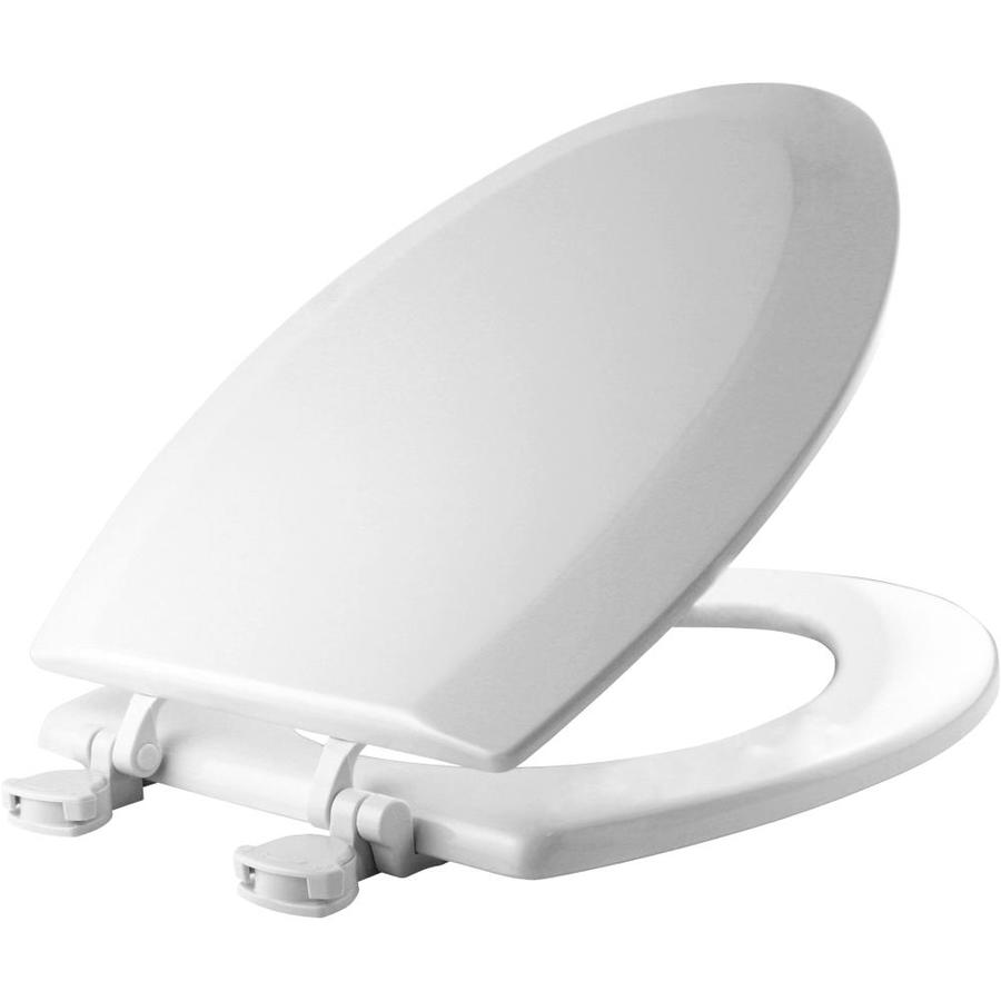 Shop Church White Wood Elongated Toilet Seat At