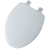 Church Lift-Off White Wood Elongated Slow-Close Toilet Seat