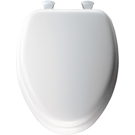Church Lift-Off White Cushioned Vinyl Elongated Toilet Seat