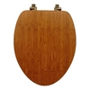 Mayfair Bamboo Wood Elongated Toilet Seat