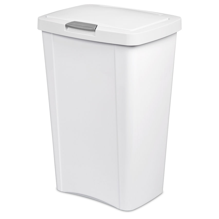Shop sterilite corporation 13 gallon white indoor garbage can at - White kitchen trash cans ...