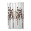 Style Selections Polyester Printed/Brown Patterned Shower Curtain