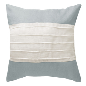 allen + roth 18-in W x 18-in L Blue Square Accent Pillow Cover