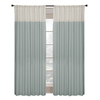 allen + roth Project Trio 84-in L Solid Blue Back Tab Window Curtain Panel
