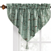 Style Selections 20-in L Blue Ascot Valance