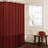 allen + roth Wessington Polyester Red Striped Shower Curtain
