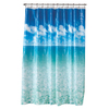 Style Selections EVA/PEVA Blue Pictorial Shower Curtain