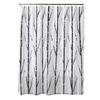 Style Selections EVA/PEVA Black/White Patterned Shower Curtain