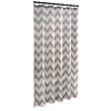 allen + roth Polyester Grey Geometric Shower Curtain