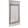 allen + roth Polyester White Solid Shower Curtain