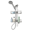 26.25-in H Over-the-Showerhead Steel Hanging Shower Caddy