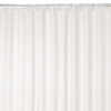 Style Selections Polyester White Solid Shower Liner