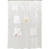 Style Selections EVA/PEVA Clear Solid Solid Shower Curtain