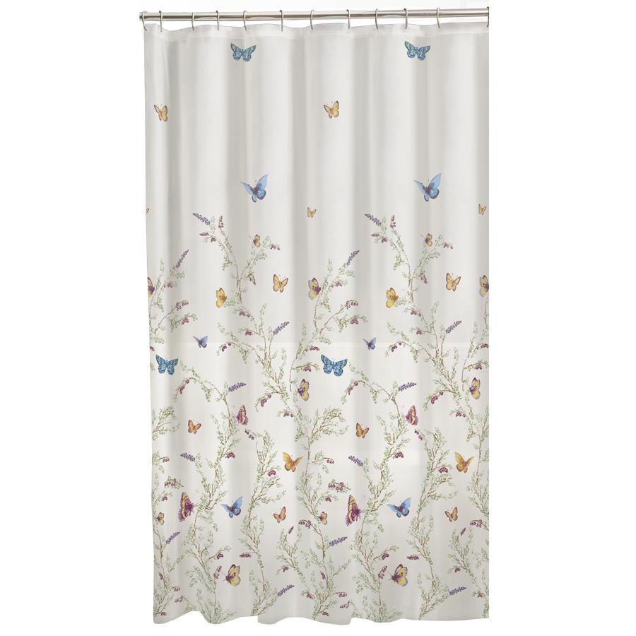 shop garden eva peva floral multi floral shower curtain at