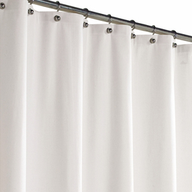 Shop Style Selections Polyester White Solid Shower Curtain At