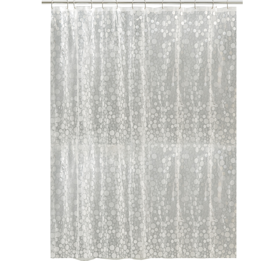 Hookless Shower Curtain Lowes Shop Hookless Evapeva Brownstone Vision Solid Shower Curtain At
