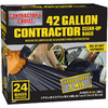 Contractor's Choice 24-Count 42-Gallon Plastic Outdoor Trash Bags