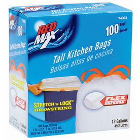 Style Selections 100-Count 13-Gallon Trash Bags