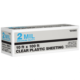 10-ft x 100-ft x 2-mil Clear Consumer Sheeting