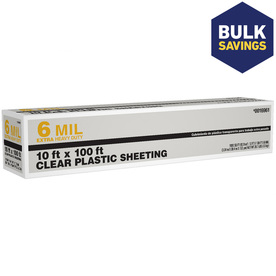 10-ft x 100-ft x 6-mil Clear Consumer Sheeting