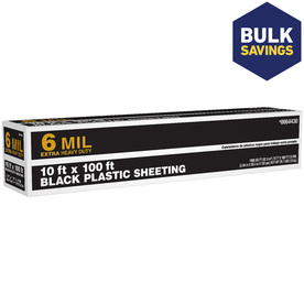 10-ft x 100-ft x 6-mil Black Consumer Sheeting