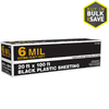 20-ft x 100-ft x 6-mil Black Consumer Sheeting