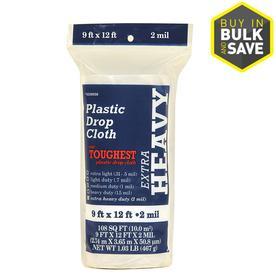 Plastic Drop Cloth (Common: 9-ft x 12-ft; Actual 9-ft x 12-ft)