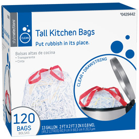 Style Selections 120-Count 13-Gallon Trash Bags