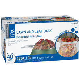 Style Selections 40-Count 39-Gallon Outdoor Trash Bags