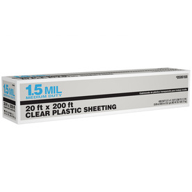 20-ft x 200-ft x 1.5-mil Clear Consumer Sheeting