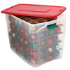 Homz Products 17-in x 18-in Red Plastic Ornament Storage Bag