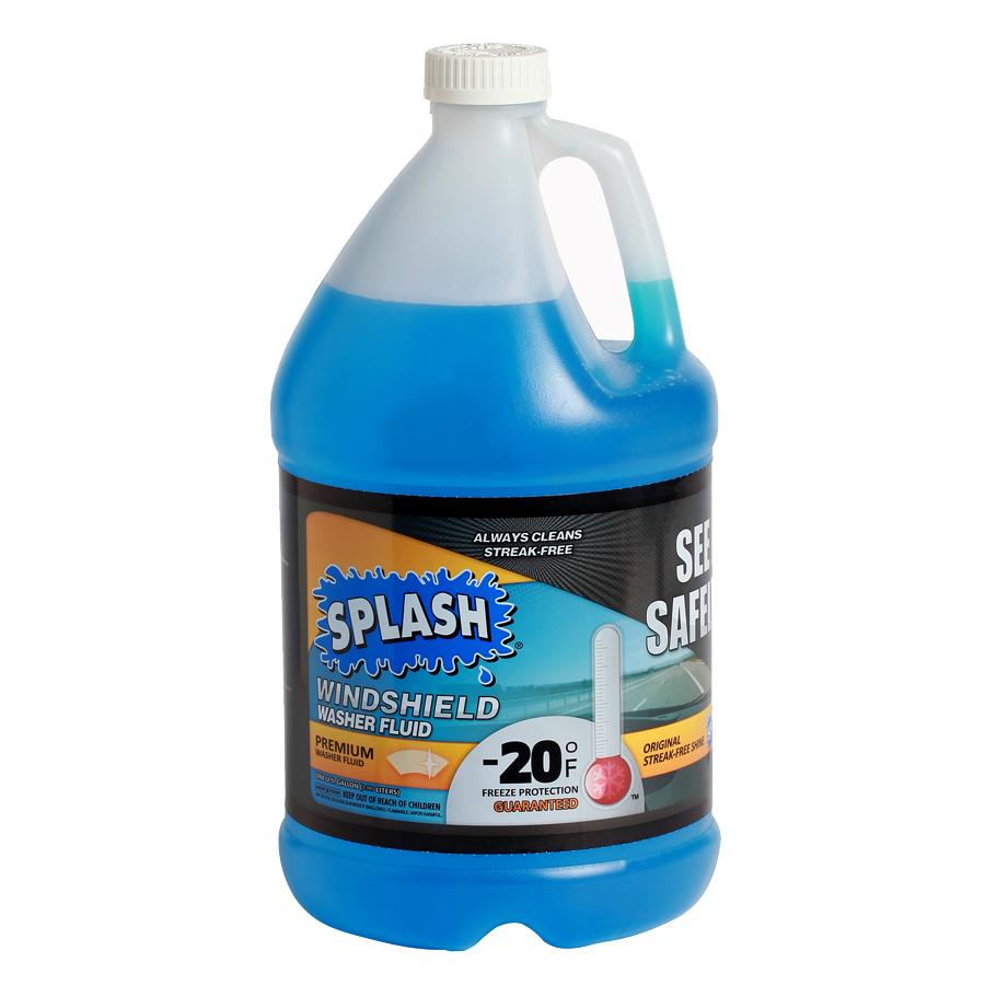 Washer fluid windshield