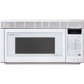 Sharp 1.1-cu ft Over-The-Range Convection Oven Microwave with Sensor Cooking Controls (White) (Common: 30-in; Actual: 30-in)