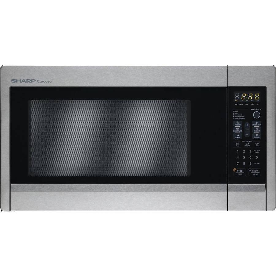Countertop Microwave Sharp : Shop Sharp 1.3-cu ft 1,000-Watt Countertop Microwave (Stainless Steel ...