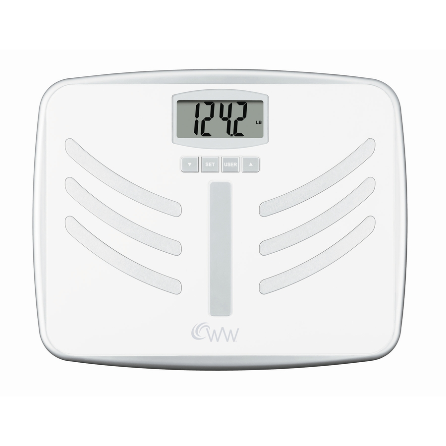 Shop Weight Watchers White Digital Bathroom Scale at Lowes.com