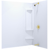 Aqua Glass Accent 60-in W x 31-in D x 58-in H High Gloss Bone Polystyrene Bathtub Wall Surround