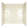 Aqua Glass Tempo 60-1/2-in W x 31-in D x 58-in H Textured Bone Polystyrene Bathtub Wall Surround