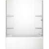 Aqua Glass Vista 60-1/2-in W x 31-in D x 58-in H High Gloss White Polystyrene Bathtub Wall Surround