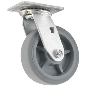 Shop waxman 6 in rubber swivel caster at - Bed casters lowes ...