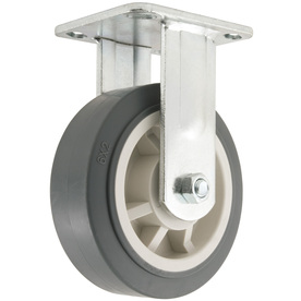 Shop waxman 6 in rubber rigid caster at - Bed casters lowes ...