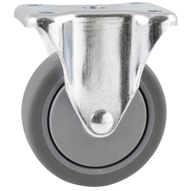 Waxman 4-in Rubber Rigid Caster