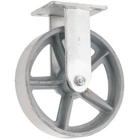 Shop waxman 8 in steel rigid caster at - Bed casters lowes ...