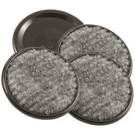 Waxman 4-Pack 1-5/8-in Brown Carpet Caster Cups