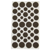 Waxman 46-Pack Brown Round Felt Pads