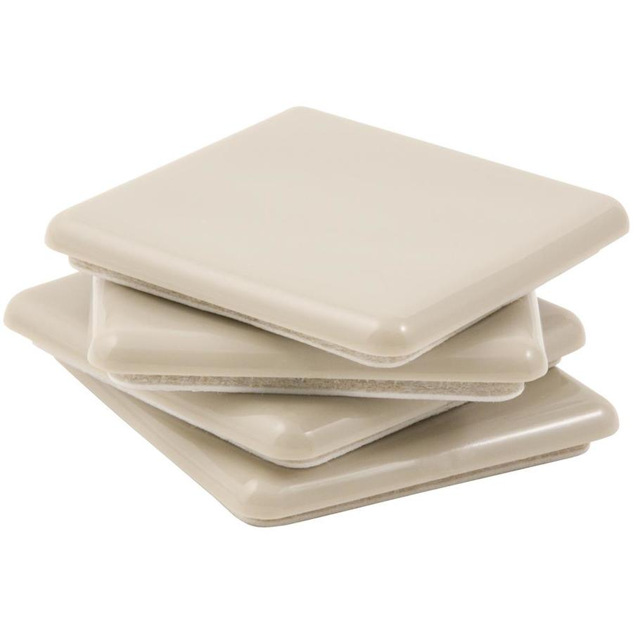 Shop Waxman 4 Pack 2 1 2 In Square Adhesive Backed Carpet Slider At