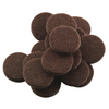 Waxman Brown Round Felt Pad
